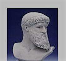 Grieks beeld van Poseidon de God van de zee en schepper van de wateren. Bekend uit de Griekse mythologie.